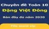 Chuyên đề môn Toán lớp 10 đầy đủ (Bản đặc biệt) - Đặng Việt Đông (1043 trang)