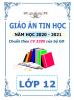 Giáo án theo chủ đề và PTNL môn Tin Học (CV 3280) - Lớp 12 - Năm 2020-2021 - File word