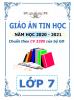 Giáo án theo chủ đề và PTNL môn Tin Học (CV 3280) - Lớp 7 - Năm 2020-2021 - File word