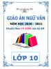 Giáo án theo chủ đề 5 hoạt động PTNL - 2020-2021 - Ngữ Văn - Lớp 10 - File word