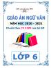 Giáo án theo chủ đề 5 hoạt động PTNL - 2020-2021 - Ngữ Văn - Lớp 6 - File word