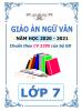 Giáo án theo chủ đề 5 hoạt động PTNL - 2020-2021 - Ngữ Văn - Lớp 7 - File word